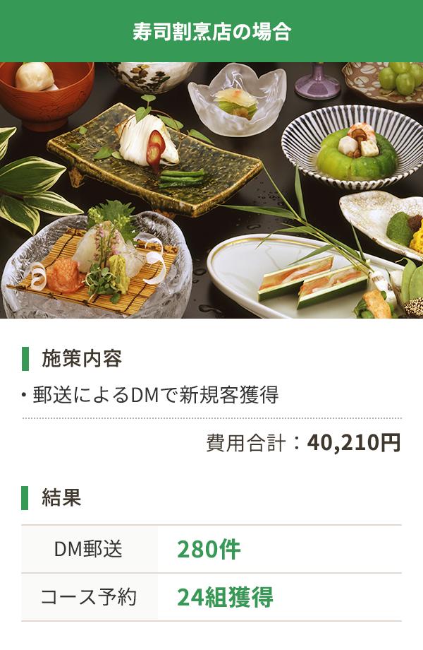寿司割烹店の場合